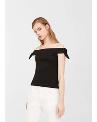 Mango Off Shoulder Crop Top