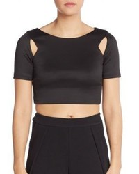 Saks Fifth Avenue RED Cutout Scuba Crop Top