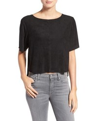 Cupcakes And Cashmere Sanderson Faux Suede Crop Top