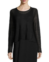 Eileen Fisher Sheer Hemp Cropped Top