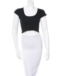 Chanel Short Sleeve Crop Top