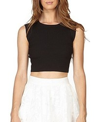 Stella And Jamie Yves Tank Crop Top Black