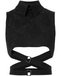 Ann Demeulemeester Strapped Crop Top