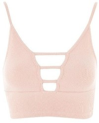 Topshop Strappy Ribbed Bralette