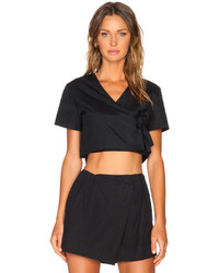 Marc by Marc Jacobs Stretch Poplin Crop Top