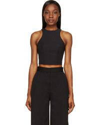 Alexander Wang T By Black Stretch Tech Cropped Top