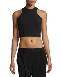 Alexander Wang T By Sleeveless Tech Crop Top Black