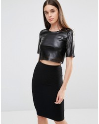 TFNC Laser Cut Crop Top