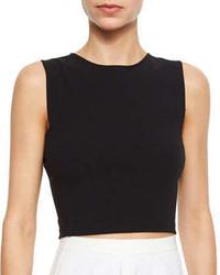 Theory Pagia Sleeveless Knit Crop Top