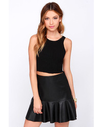 Cotton Candy Tip Top Shape Black Crop Top