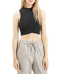 Topshop Wrap Front Crop Shell