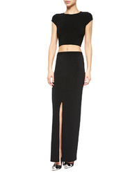 Alice + Olivia Twist Back Jersey Crop Top