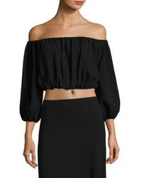 Theory Waleska Rosina Off The Shoulder Cropped Top