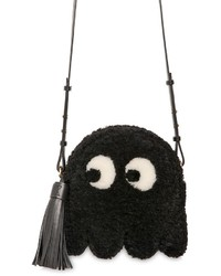 Anya Hindmarch Ghost Shearling Tasseled Shoulder Bag