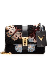 Valentino B Rockstud Japanese Camubutterfly Shoulder Bag