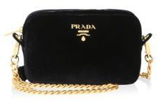 Prada Bandoliera Velvet Chain Camera Bag