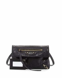 Balenciaga Classic Gold Mini Envelope Crossbody Bag Black