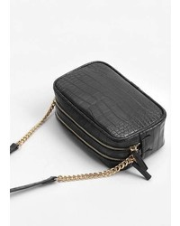 Mango Croc Effect Cross Body Bag