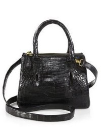 Nancy Gonzalez Crocodile Mini Pliss 233 Crossbody Bag