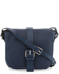 French Connection Edie Perforated Crossbody Bag Nocturnal