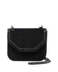 Stella McCartney Falabella Velvet Box Crossbody Bag Black