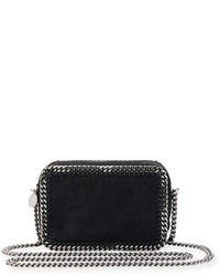 Stella McCartney Falabella Whipstitch Camera Crossbody Bag Black