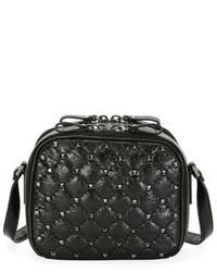 Valentino Garavani Rockstud Spike Crossbody Camera Bag Black