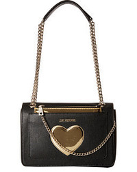Love Moschino Gold Heart With Chain Crossbody Bag