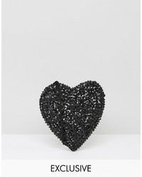 Reclaimed Vintage Inspired Mini Heart Cross Body Bag