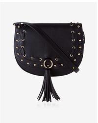 Express Laced Tassel Saddle Bag