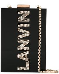 Lanvin Vertical Logo Crossbody Bag