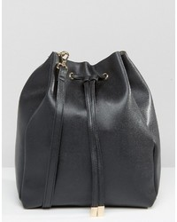 Asos Minimal Drawstring Shoulder Bag With Detachable Strap