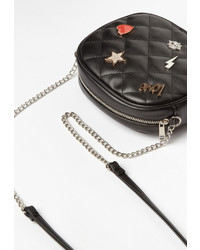 Missguided Black Badge Detail Cross Body Bag