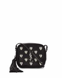 Saint Laurent Monogram Blogger Heart Crossbody Bag Black