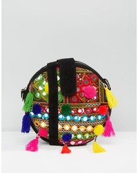 Boohoo Pom Pom Cross Body Bag