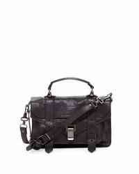 Proenza Schouler Ps1 Tiny Crossbody Satchel Bag Black