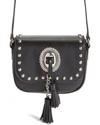 Saint Laurent Small Kim Calfskin Crossbody Bag Black