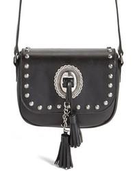Saint Laurent Small Kim Calfskin Crossbody Bag Black