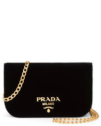 Prada Small Velvet Flap Crossbody Bag
