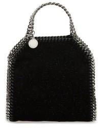 Stella McCartney Tiny Falabella Glitter Crossbody Bag Black