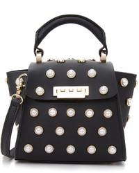Zac Posen Zac Eartha Imitation Pearl Top Handle Mini Cross Body Bag