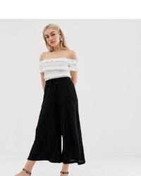 Asos Petite Asos Design Petite Cropped Drawstring Trousers