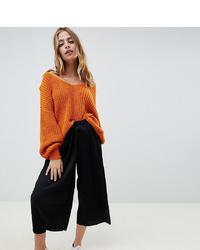 Asos Petite Asos Design Petite Plisse Culotte Trousers