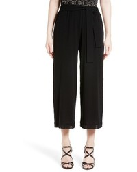 Fuzzi Belted Crop Wide Leg Pants
