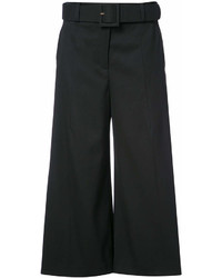 Oscar de la Renta Belted High Waisted Culottes