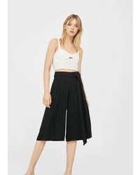 Mango Bow Culottes Trousers