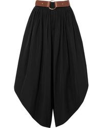 Chloé Cropped Cotton Poplin Wide Leg Pants