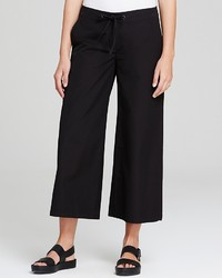 Eileen Fisher Cropped Wide Leg Drawstring Pants The Fisher Project