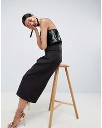 Asos Design Scuba Pleated Culottes