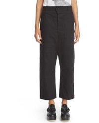 JULIEN DAVID Drop Crotch Crop Pants